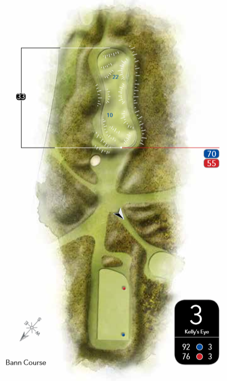 3rd Hole Layout Bann Course Castlerock Golf Club