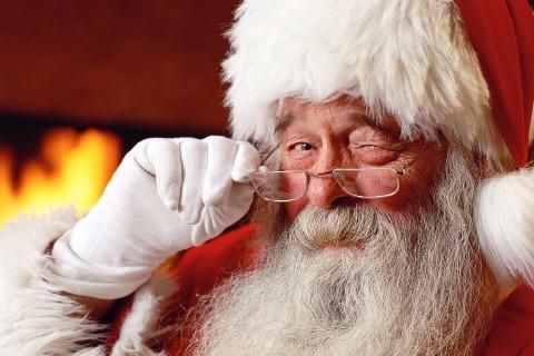 Christmas at Castlerock Golf Club Santa Winking Image