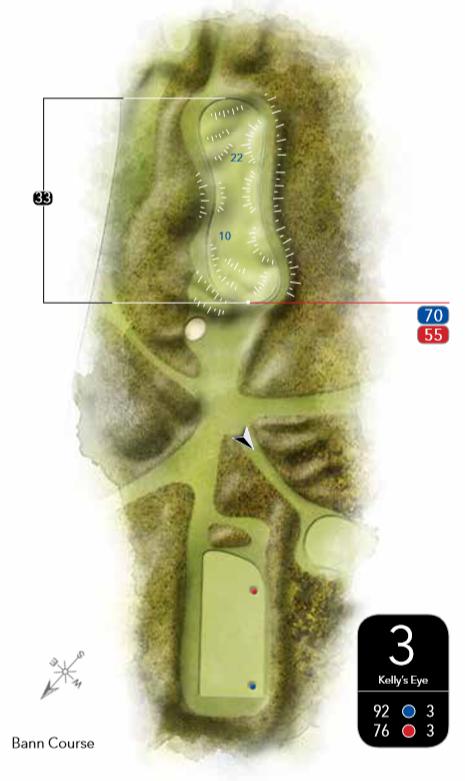 3rd Hole Layout Bann Course Castlerock Golf Club